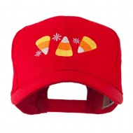 Halloween Candies Embroidered Cap - Red