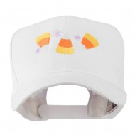 Halloween Candies Embroidered Cap - White