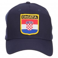 Croatia Flag Shield Patched Cap - Navy