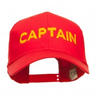 Captain Embroidered Cap - Red