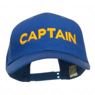 Captain Embroidered Cap - Royal