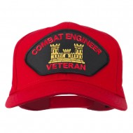 Combat Engineer Veteran Military Patch Cap - Red