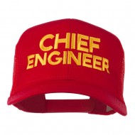 Chief Engineer Embroidered Twill Mesh Cap - Red