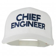 Chief Engineer Embroidered Twill Mesh Cap - White
