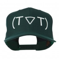 Crying Face Text Emoticon Embroidered Snapback Cap - Spruce