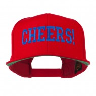 Cheers Embroidered Snapback Cap - Red