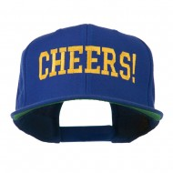 Cheers Embroidered Snapback Cap - Royal