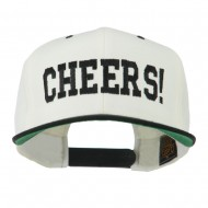 Cheers Embroidered Snapback Cap - Natural Black
