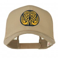 Celtic Image in Circle Embroidered Cap - Khaki