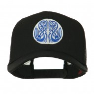 Celtic Image in Circle Embroidered Cap - Black