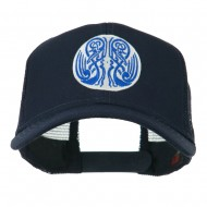 Celtic Image in Circle Embroidered Cap - Navy