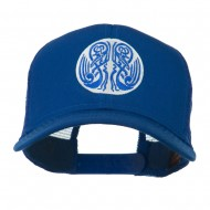Celtic Image in Circle Embroidered Cap - Royal