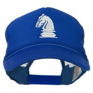 Chess Knight Embroidered Foam Front Mesh Back Cap - Royal