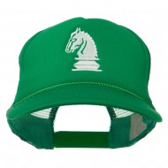 Chess Knight Embroidered Foam Front Mesh Back Cap - Kelly