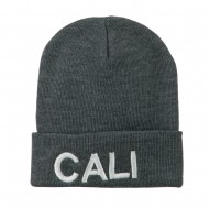 Wording of Cali Embroidered Beanie - Grey