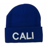Wording of Cali Embroidered Beanie - Royal