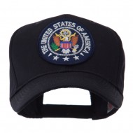 Army Circular Shape Embroidered Military Patch Cap - USA