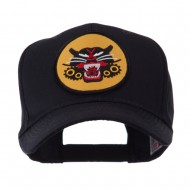 Army Circular Shape Embroidered Military Patch Cap - Tank