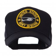 Army Circular Shape Embroidered Military Patch Cap - Aviation