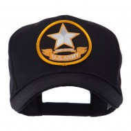 Army Circular Shape Embroidered Military Patch Cap - Army 2