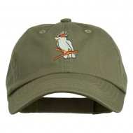 Image of Cockatoo Embroidered Pet Spun Cap - Olive