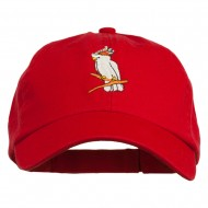 Image of Cockatoo Embroidered Pet Spun Cap - Red