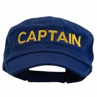 Captain Embroidered Enzyme Army Cap - Navy