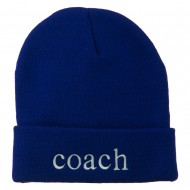 Coach Embroidered Long Beanie - Royal