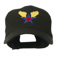 Army Air Corps Military Embroidered Cap - Black