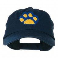 Cat Paw Pet Spun Washed Embroidered Cap - Navy