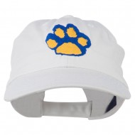 Cat Paw Pet Spun Washed Embroidered Cap - White