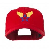 Army Air Corps Military Embroidered Cap - Red