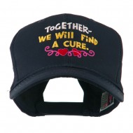 Cancer Cure Saying Embroidered Cap - Navy