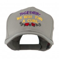 Cancer Cure Saying Embroidered Cap - Grey