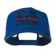 US Crew Embroidered Mesh back Cap - Royal