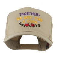 Cancer Cure Saying Embroidered Cap - Khaki