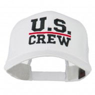 US Crew Embroidered Mesh back Cap - White
