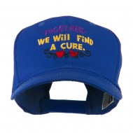 Cancer Cure Saying Embroidered Cap - Royal