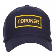 Coroner Text Law Forces Patched Cap - Navy