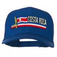 Costa Rica Flag Patched Mesh Cap - Royal