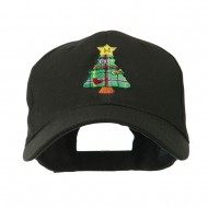 Christmas Tree with Decoration Embroidered Cap - Black