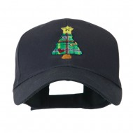 Christmas Tree with Decoration Embroidered Cap - Navy