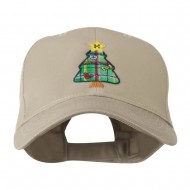 Christmas Tree with Decoration Embroidered Cap - Khaki