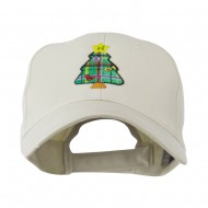 Christmas Tree with Decoration Embroidered Cap - Stone