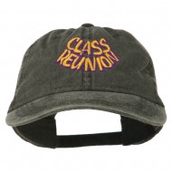 Class Reunion Embroidered Washed Cap - Black