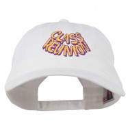 Class Reunion Embroidered Washed Cap - White