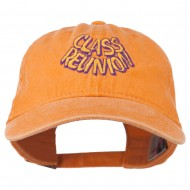 Class Reunion Embroidered Washed Cap - PKN Orange