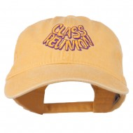 Class Reunion Embroidered Washed Cap - Yellow