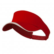 Heavy Brushed Cotton Concave Trim Visor - Red White