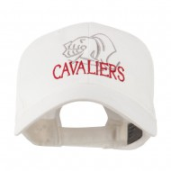 Cavaliers Mascot Embroidered Cap - White